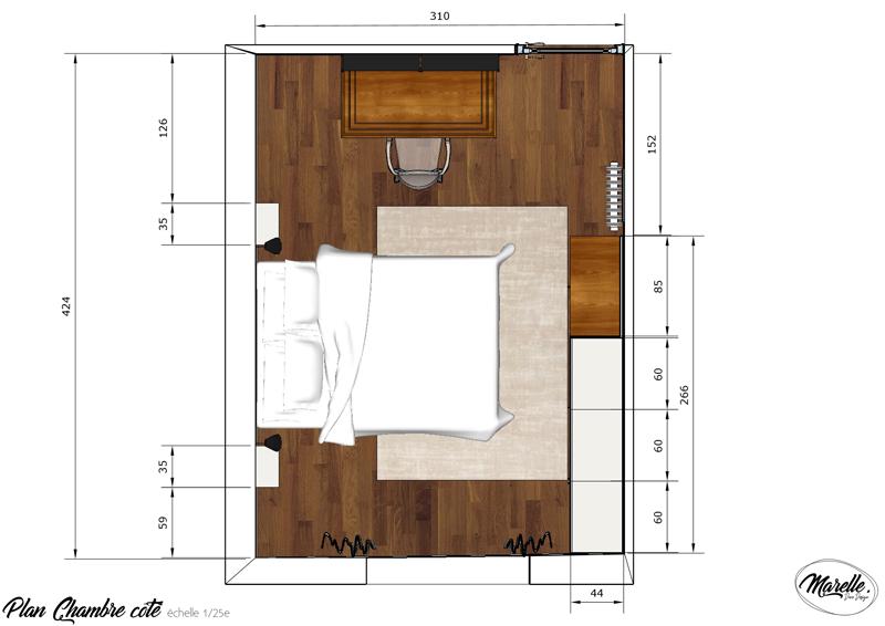 Plan-chambre-côté - Marelle Déco Design