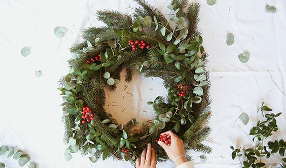 DIY : Une couronne végétale pour les fêtes
