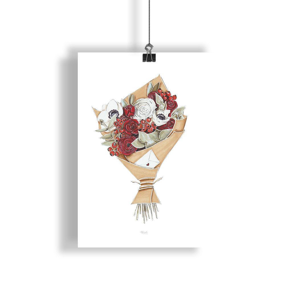 bouquet de fleurs illustration
