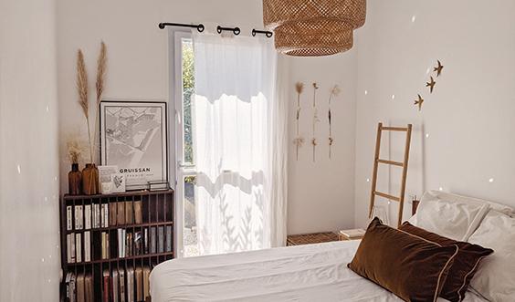 La décoration de notre nouvelle chambre épurée et chaleureuse